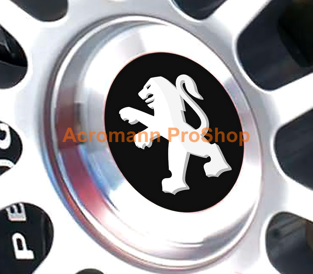Peugeot Printed 2.2inch Wheel Cap Decal (Style B) x 4 pcs